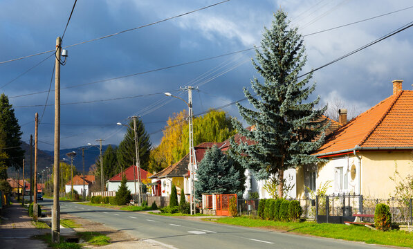 Image of traditional hungarian village outdoor.