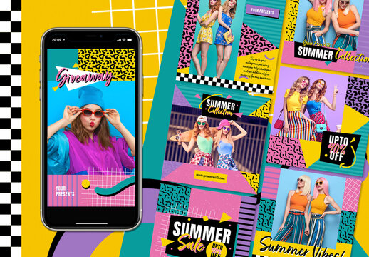 90's Fashion Social Media Layout