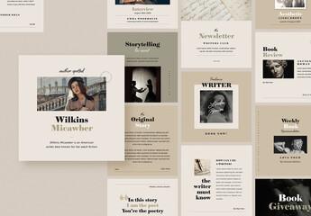 Writers Social Media Pack
