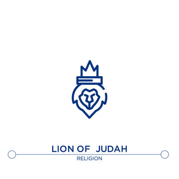 lion of  judah outline vector icon. simple element illustration. lion of  judah outline icon from editable religion concept. can be used for web and mobile