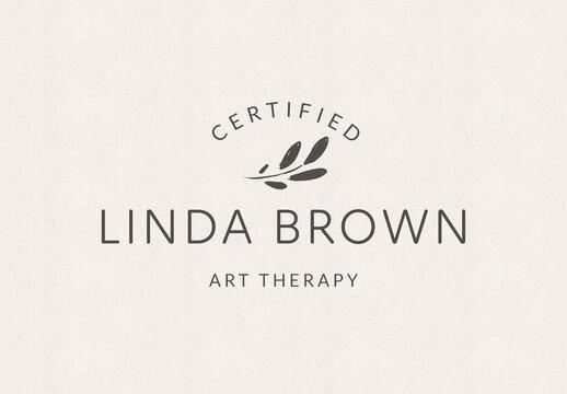 Professional Logo Design Layout with Leaf Element