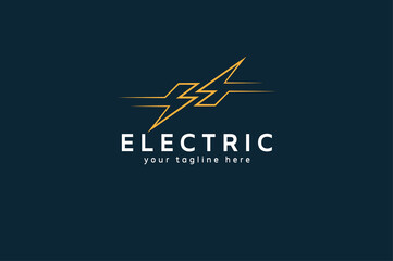 Electric Logo, abstract letter S from negative space lightning bolt , tunder bolt design logo template, vector illustration
