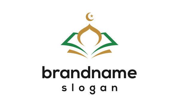 Modern mosque logo design vector