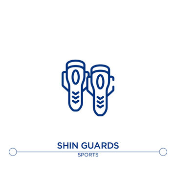shin guards outline vector icon. simple element illustration. shin guards outline icon from sport concept. can be used for web and mobile