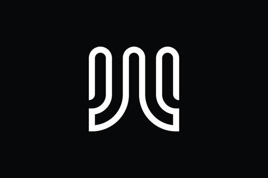 Minimal Innovative Initial W logo and WW logo. Letter W WW creative elegant Monogram. Premium Business logo icon. White color on black background.