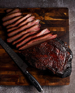 Texas style low and slow smoked brisket