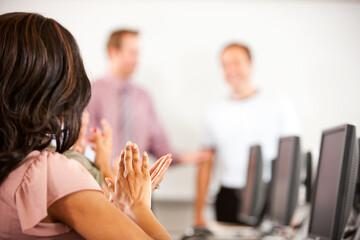 Computer Class: Class Applauds Student
