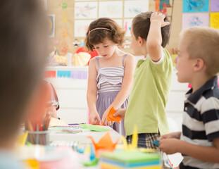 Kids in an Art Workshop