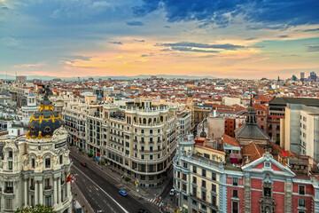 Gran Via Street, Madrid Fotomurales