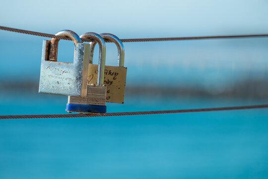 Love Locks at Surfers Pardise, Queensland