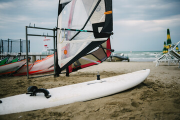 Wind surf boards on the beach