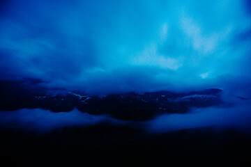 Panorama from Gauli mountain hut at night