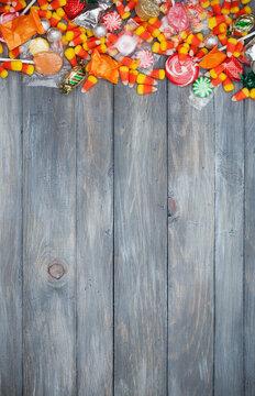 Halloween: Halloween Candy Border Background