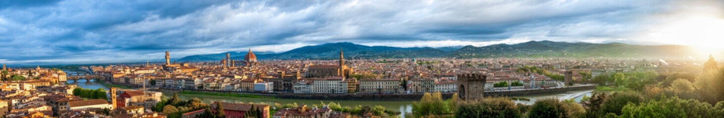 Florence skyline during dawn