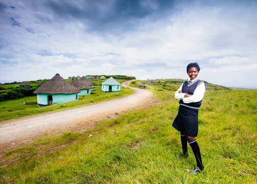 Portrait of a South African Xhosa school girl