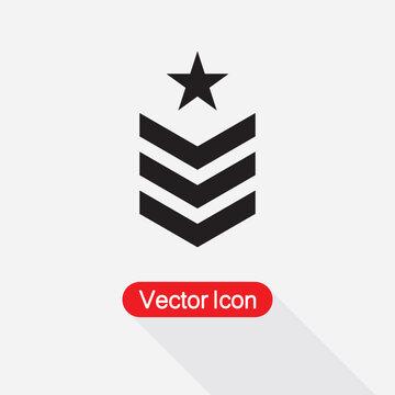 Chevron Icon, Badge Military Icon Vector Illustration Eps10