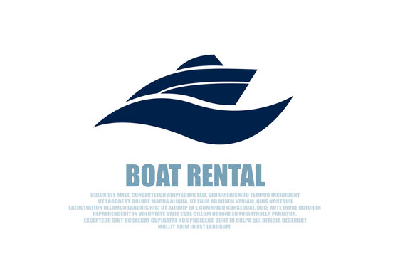 Vector of a stylish boat rental logo