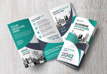 Modern and Stylish Trifold Brochure Layout