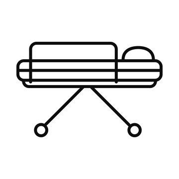 stretcher icon image, line style