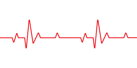 Heart beat line cardiogram icon background