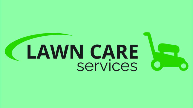 lawn care service vector illustration logo
