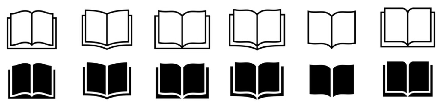 Book icon set. Simple book symbol. Vector illustration