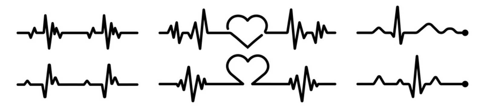 Heart icon in linear design isolated vector signs, medical health care, love passion concept, heart shape, romantic