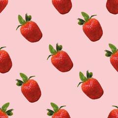 Erdbeere, nahtloser Hintergrund