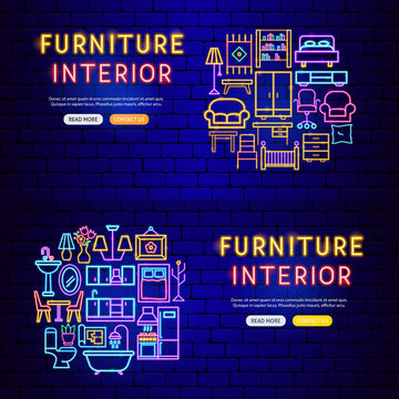 Furniture Neon Banners