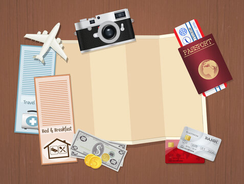 illustration of planning your travel