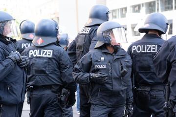 Fototapeta Polizei, Demonstration, Berlin, Corona