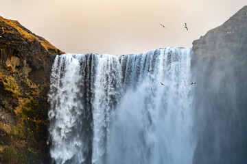 Skogarfoss, a waterfall on the southern ring road, Iceland Fotomurales