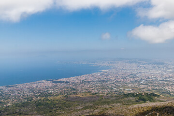 View of the Bay of Naples from Vesuvius