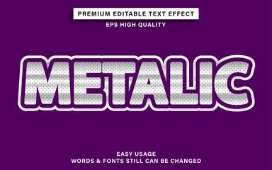 Wall Mural - Editable font effect metalic