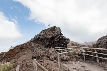 Arround the crater of Mount Vesuvius, Italy