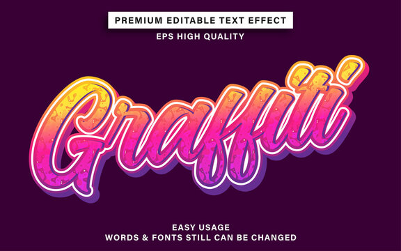 Editable font effect graffiti