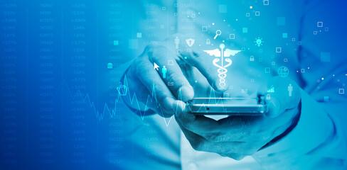 sfondo, applicazione, medica, visita medica, medicina