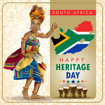 South Africa Heritage Day Wishes with Dancer