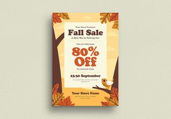 Fall Sale Flyer Layout