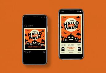 Halloween Party Social Media Layout