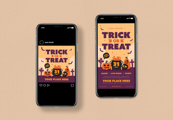 Trick or Treat Festival Social Media Layout