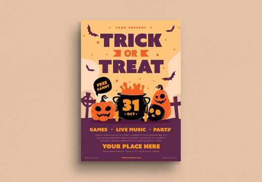 Trick or Treat Festival Flyer Layout