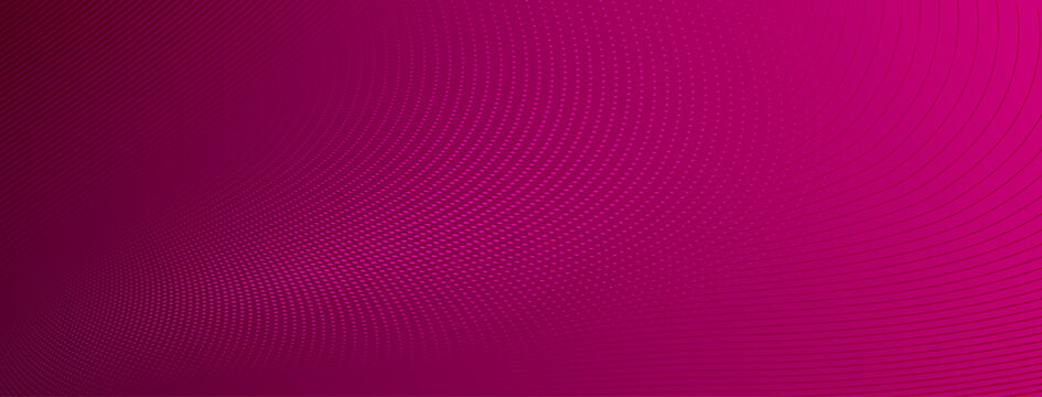 Abstract halftone background of small dots and wavy lines in pink colors