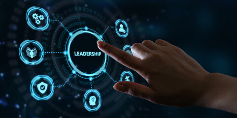 Business, Technology, Internet and network concept. Leadership business management.