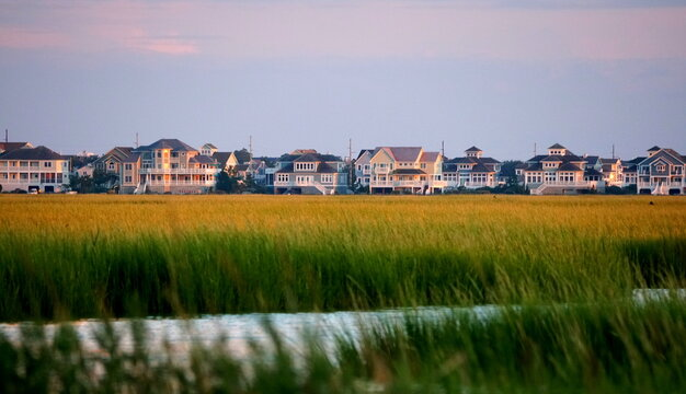 Beautiful waterfront homes by the bay near Bethany Beach, Delaware, U.S