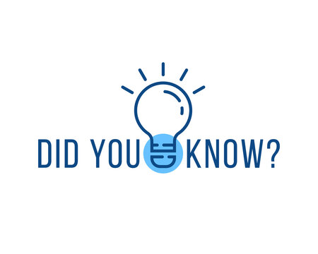 did you know text with linear bulb