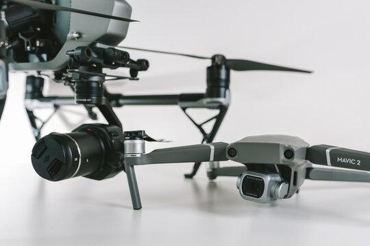 DJI Inspire 2 and Mavic 2 Pro drones