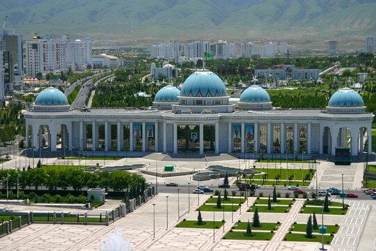 City Center of Ashgabat in Turkmenistan