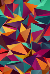 Abstract Low-Poly background. triangulated texture. Design 3d. Polygonal geometrical pattern....