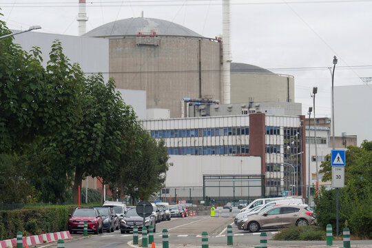 View of the Tihange nuclear power plant of Engie Electrabel in Tihange
